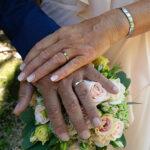 dettaglio sposi fedi